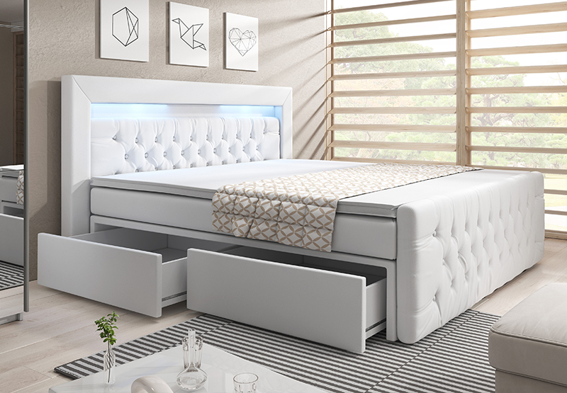 sofort lieferbar boxspringbetten online kaufen designer m bel online kaufen. Black Bedroom Furniture Sets. Home Design Ideas