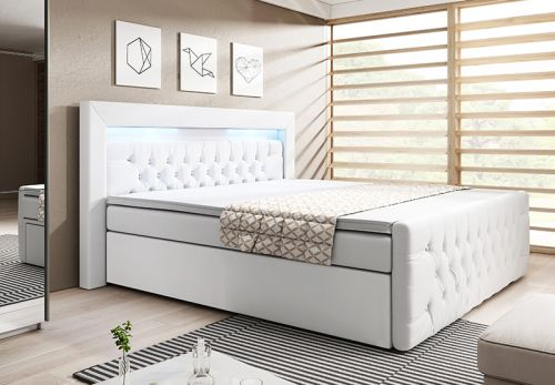 boxspringbett york 180x200 liftfunktion bettkasten inklusive topper ebay. Black Bedroom Furniture Sets. Home Design Ideas